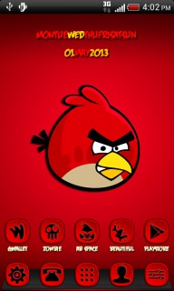 Angry Bird Red For Android Theme Mobile Theme