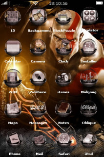 God Of War 3 IPhone Theme Mobile Theme