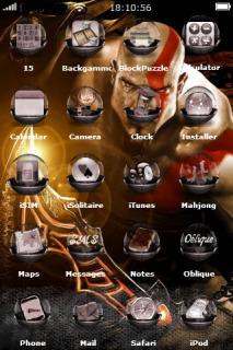 God Of War 3 IPhone Theme Mobile Theme