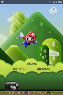 Mario Happy Jumping IPhone Theme Mobile Theme