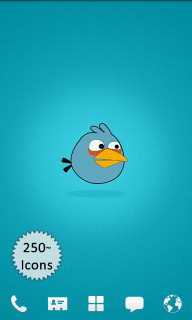 Angry Birds Blue Android Theme Mobile Theme