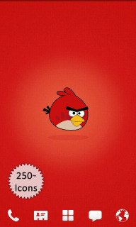 Angry Birds Red Android Theme Mobile Theme