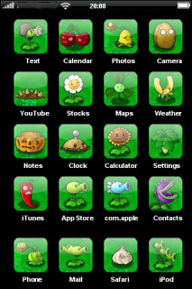 Plants VS Zombies IPhone Theme Mobile Theme