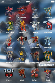 Transformer & ICons Games IPhone Theme Mobile Theme
