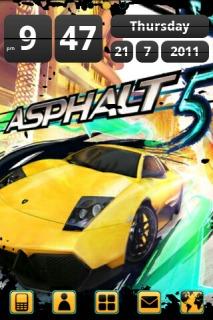 Asphalt 5 Android Theme Mobile Theme