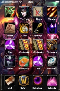 Blood Elf Fighter IPhone Theme Mobile Theme