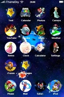 Super Mario Galaxy IPhone Theme Mobile Theme