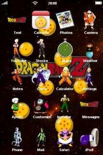 Dragon Ballz Games ICons IPhone Theme Mobile Theme
