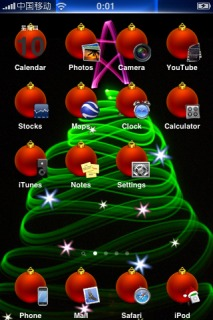 Christmas Tree IPhone Theme Mobile Theme