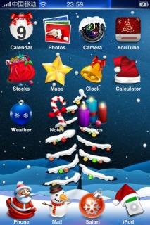 Iced Christmas IPhone Theme Mobile Theme