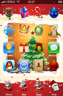 Merry Christmas IPhone Theme Mobile Theme