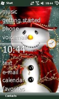 Xmas Snowman Theme Mobile Theme
