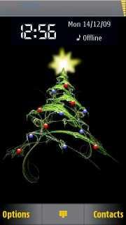 Merry Christmas Nokia S60v Theme Mobile Theme