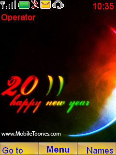 2011 New Year  Mobile Theme