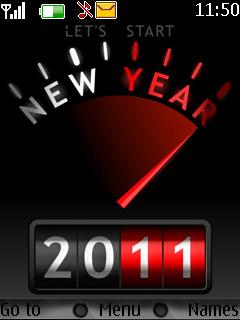 Happy 2011 Mobile Theme