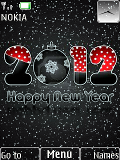 Lovely New Year Theme Mobile Theme