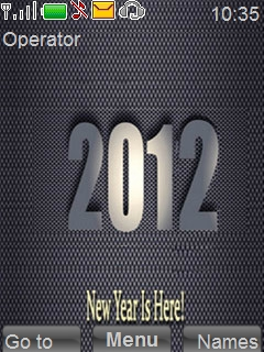 2012 New Year Mobile Theme