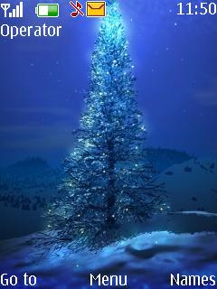 Christmas Blues Mobile Theme