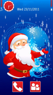 Santa Merry Christmas  Mobile Theme