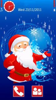 Santa Merry Christmas  Mobile Theme