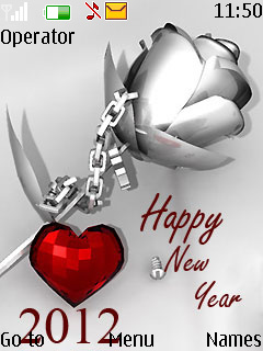 download silver new year nokia theme mobile toones