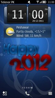Happy 2012 Mobile Theme