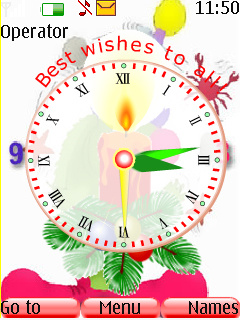 Best Wish Clock Mobile Theme