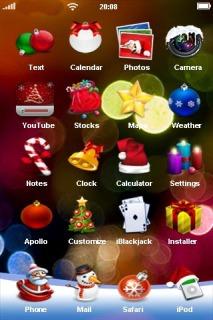 Christmas Lights IPhone Theme Mobile Theme