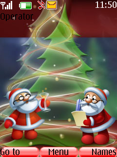 Merry Xmas Old Santa S40 Theme Mobile Theme