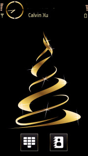 Golden Christmas Tree S60v5 Theme Mobile Theme