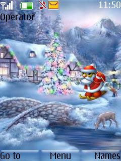 Santa In Winter S40 Theme Mobile Theme