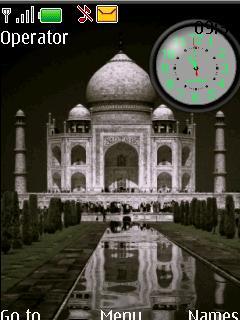 Taj Mahal Clock S40 Theme Mobile Theme