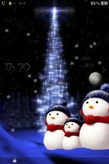 Christmas Snow Man IPhone Theme Mobile Theme