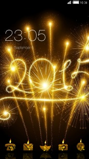 2015 happy new year android theme mobile theme