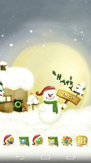 Christmas Snowman Holiday Android Theme Mobile Theme