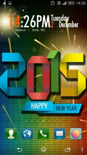 Happy New Year 2015 Colors Android Theme Mobile Theme