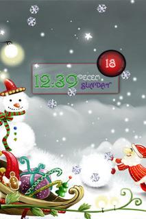Santa & Snowman Christmas IPhone Theme Mobile Theme