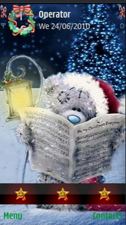 Bear Read Christmas Book Nokia Theme Mobile Theme