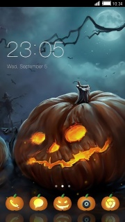 Halloween Night Free Android Theme Mobile Theme
