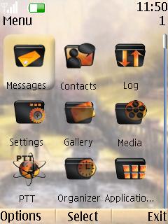Animated Rain Nokia S40 Theme Mobile Theme