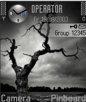 Black Tree Mobile Theme