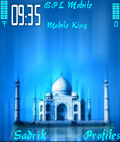 3D Taj Mobile Theme