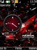 Nokia Battery Clock Mobile Theme