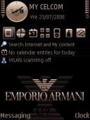 Armani Black Mobile Theme