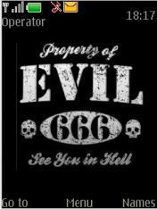 Evil Theme Mobile Theme