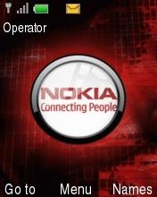 Nokia Red Chrome Mobile Theme