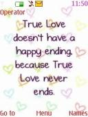 True Love Mobile Theme
