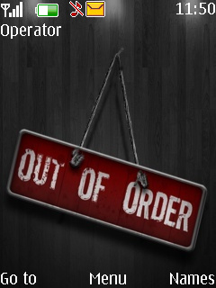Out Of Order Mobile Theme