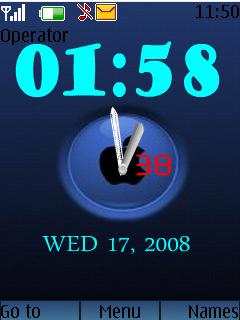 Apple Logo Clock Mobile Theme