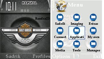 Harley Davidson Logo Mobile Theme